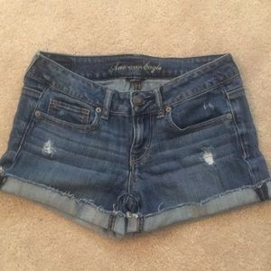 American Eagle Distressed Stretch Shorts, size 4